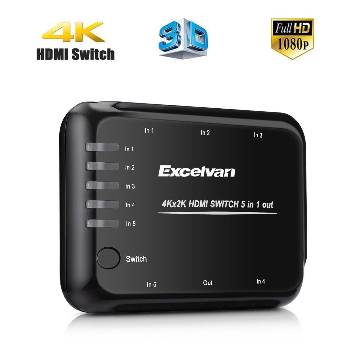 Excelvan VK-TC06 - Mini 4K HDMI Switch 5 Port: Amazon.de: Elektronik