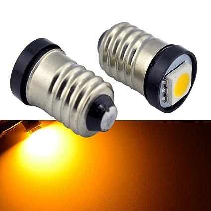 Ruiandsion E10 - Bombilla LED de 24 V CC, 0,5 W, amarillo