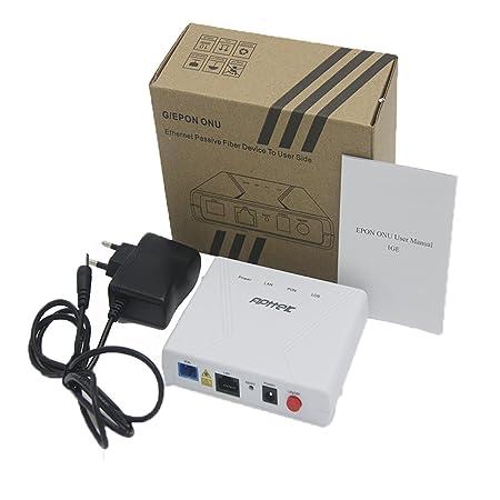 EPON ONU Modem Fiber Optic 10/100/1000Mbps, PON Port + Lan