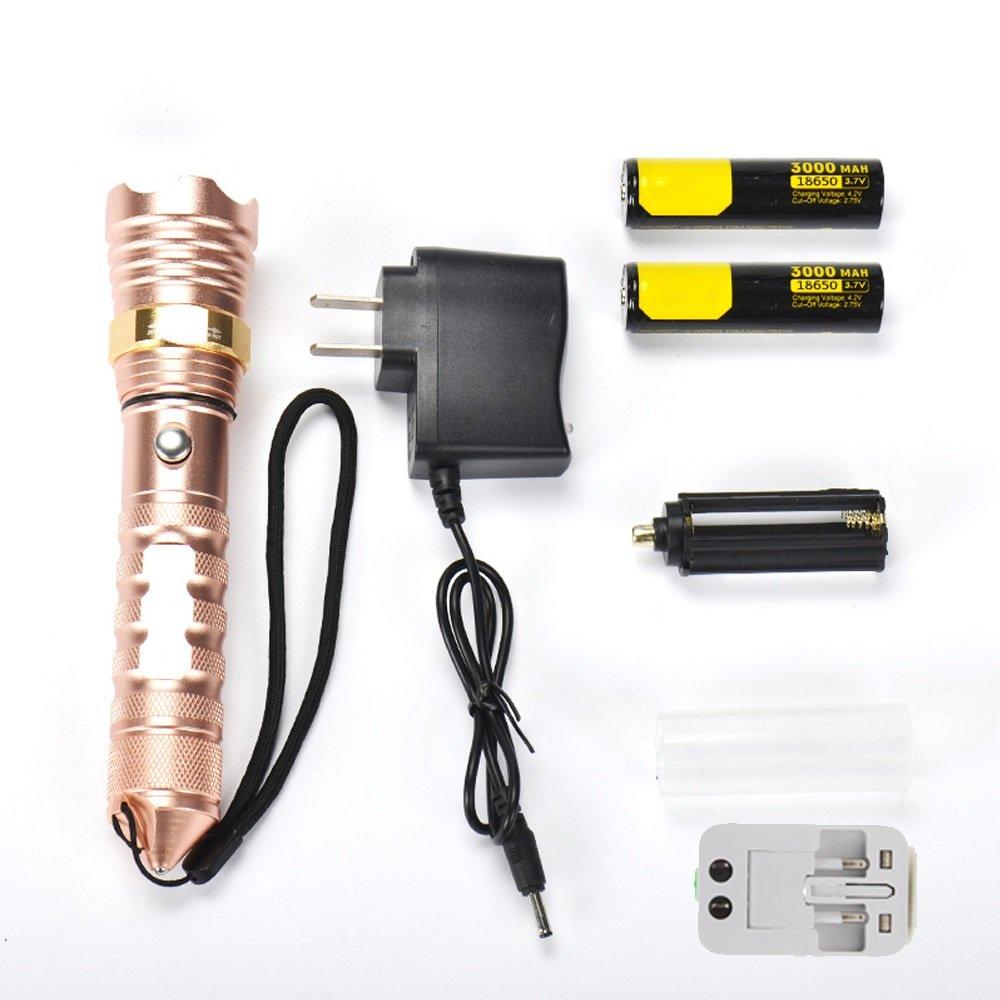 D FLY LED Lampe de Poche Rechargeable Super Lumineux Multifonction Maison extérieure portable Lampe de Poche (Edition   E)