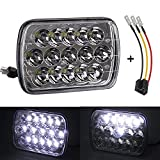 88 nissan pickup - YORKING 45W 7x6 5x7 inch Led Headlights 6054 H6054 Hi/Lo w/ H4 Headlight Adapter Sealed Beam Jeep Wrangler Cherokee Toyota 95-97 Tacoma 88-95 Pickup Chevy Express Van Nissan Pickup 1PACK