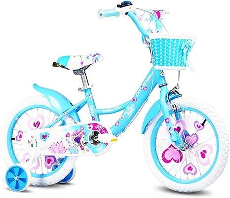 FINLR Bicicleta For Niños Bicicleta For Niños Bicicleta For Niños Bicicletas For Niños 12/14/16/18 Pulgadas 2-13 Años Hada Princesa Niña Bicicleta con Estabilizadores Y Cesta: Amazon.es: Deportes y aire libre