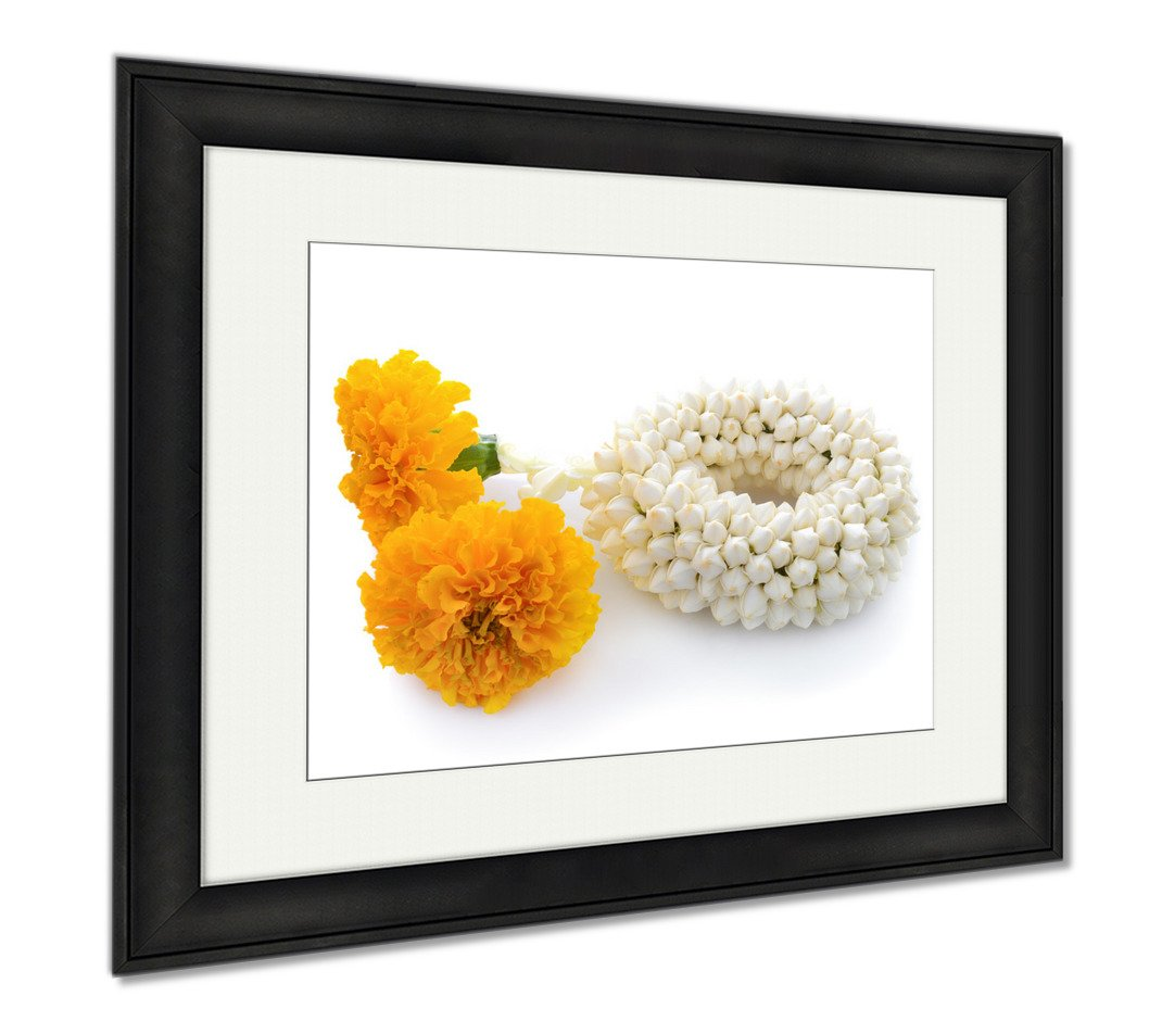 Ashley Framed Prints Malai The Flower In Thai Tradition Style, Office/Home/Kitchen Decor, Color, 30x35 (frame size), Black Frame, AG5876875 by Ashley Framed Prints