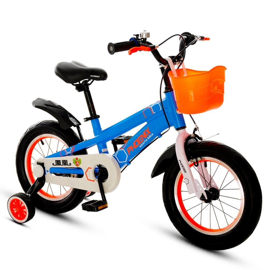 Xiaoping Bicicleta para Niños 2-3-6-7-8-9 Años Cochecito de bebé 12/14/16/18 Pulgadas Niños Bicicleta Azul (Size : 14 Inches)