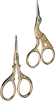Gold Plated Stainless Steel Scissors for Embroidery