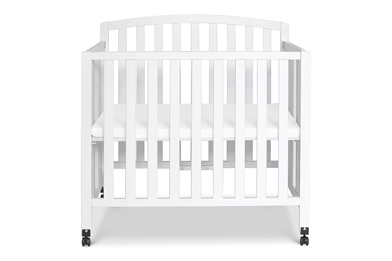DaVinci Dylan Folding Portable 3-in-1 Mini Crib and Twin Bed White