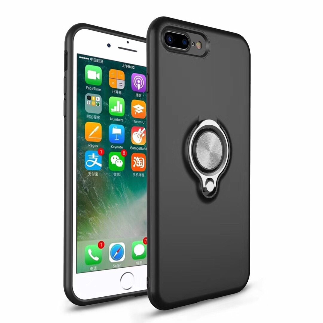 Cover for iPhone 7 Plus Case, 2 in 1 360 Degree Ring Stand Dual Layer TPU Silicone Rubber Bumper Shockproof Support Magnetic Car Mount Holder Thin Case for Apple iPhone 8 Plus (1, iPhone 7 Plus) by 22miter
