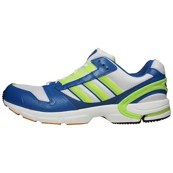 adidas Men's ZX 8000 Running Shoe,White/Slime/Orange,10.5 M