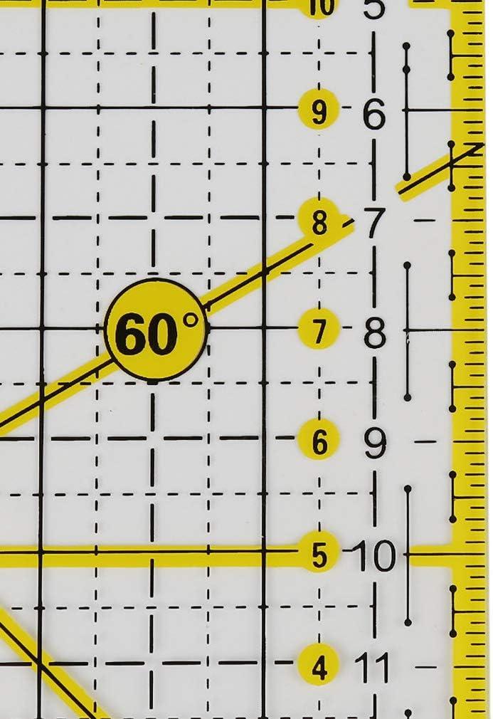 15 x 15 cm per patchwork e trapuntatura Righello da cucito in acrilico alla moda francese CUTOOP