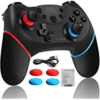 Control Inalambrico Gamepad Joystick Para Nintendo Switch con USB Cable, Joystick Remoto Bluetooth para Consola NS, con…