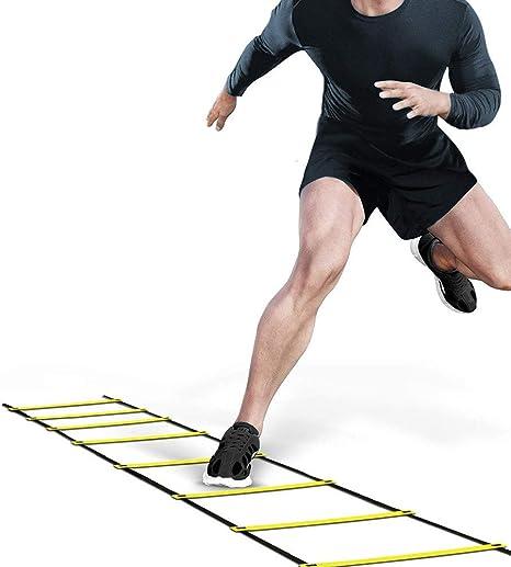 FreeTrade Rung Escalera de Agilidad para Correr, Entrenamiento, fútbol, Velocidad, Deporte, Equipo de Ejercicio: Amazon.es: Deportes y aire libre