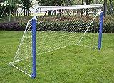 KLB Sport 8' x 5' Steel Soccer Goal W/Net (Blue)