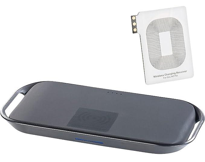 Callstel Qi-cargador de batería externo + receptor-pad para ...