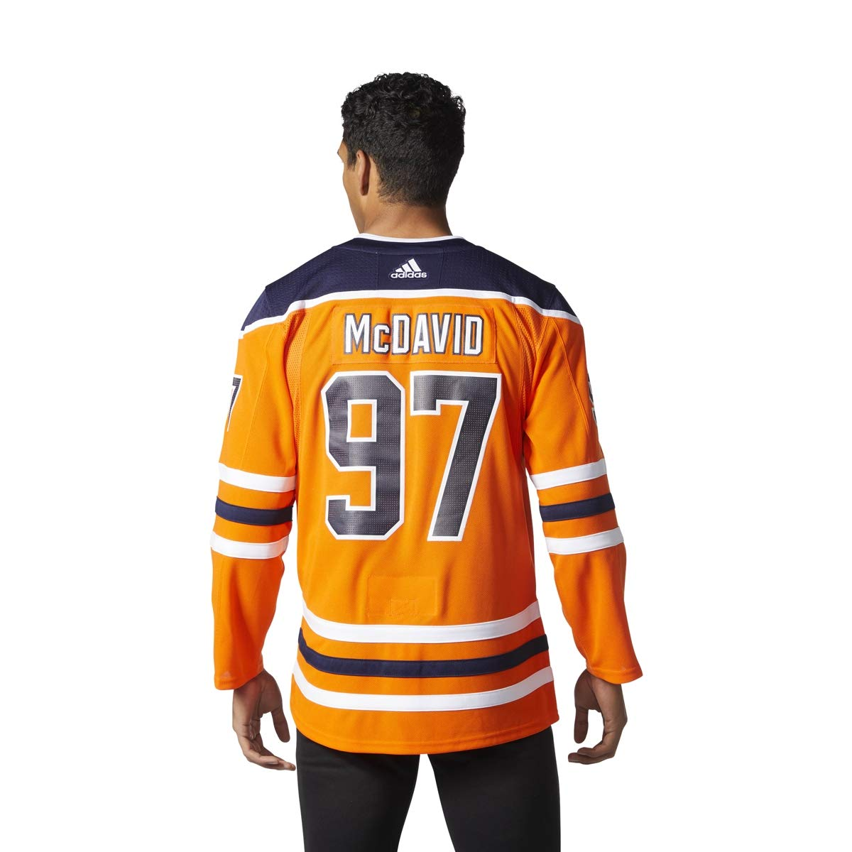 Amazon.com   adidas Connor McDavid Edmonton Oilers NHL Men s Authentic  Orange Hockey Jersey   Sports   Outdoors d0ef39185