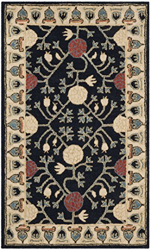 Safavieh Heritage Collection Premium Wool Area Rug, 4 x 6 , Navy Ivory