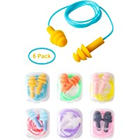 Tapones para oídos de silicona, paquete de 6