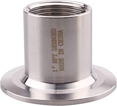 OD 50.5mm Ferrule DERNORD Sanitary Female Threaded Pipe Fitting to 1.5 Inch TRI CLAMP Pipe Size: 1 NPT