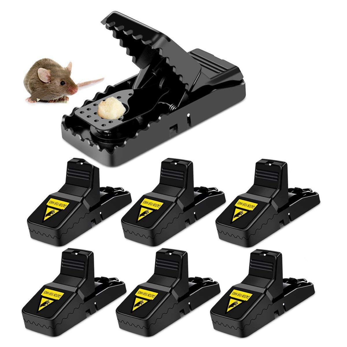 Amabana Mouse Trap,Rat Mice Traps Snap Work Power Rodent Quick Killer 100% Mouse Catcher Cleaning Brush Safe Family Pet,Qucik & Effective & Sanitary(6 Pack)