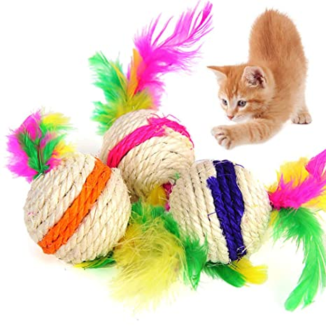 display08 - Bola de rascador de sisal para Gato o Gato: Amazon.es ...