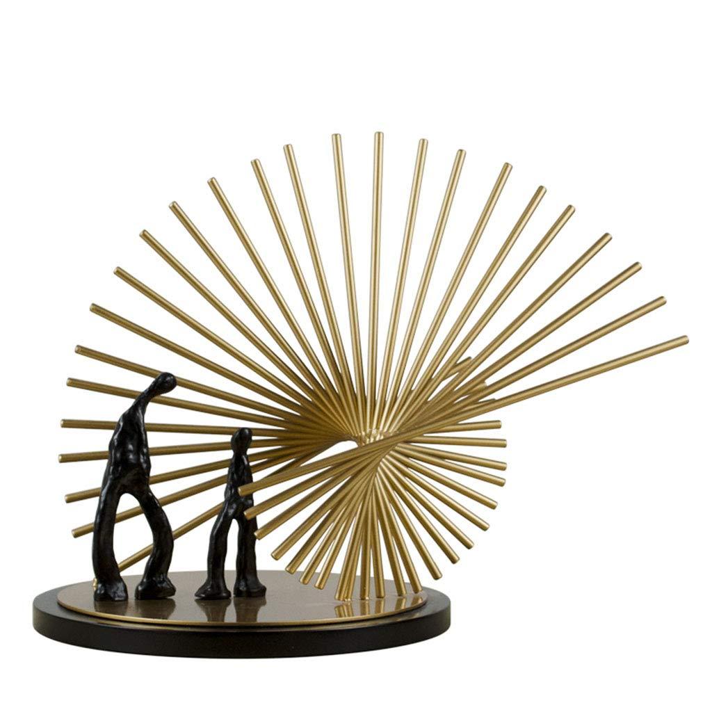 装飾材料 金属像の像家族のデスクトップデコレーションホームクラブモデルルーム柔らかい装飾工芸品 (Color : Gold, Size : 40*27*34cm) 40*27*34cm Gold B07K1FNKSX