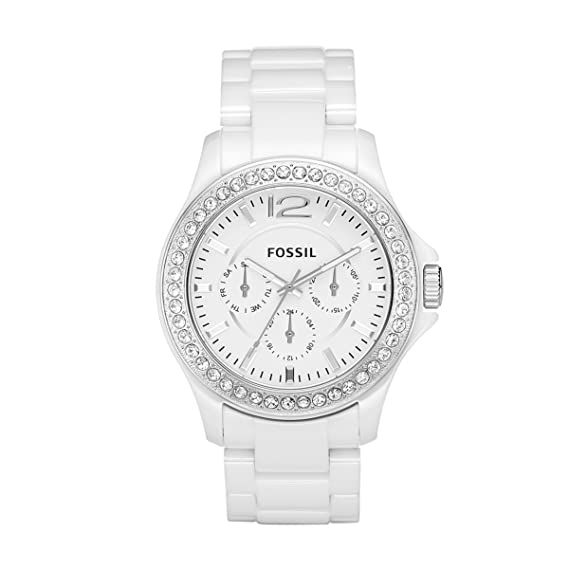 FOSSIL Ladies Sport CE1010 - Reloj analógico de cuarzo para mujer, correa de cerámica color