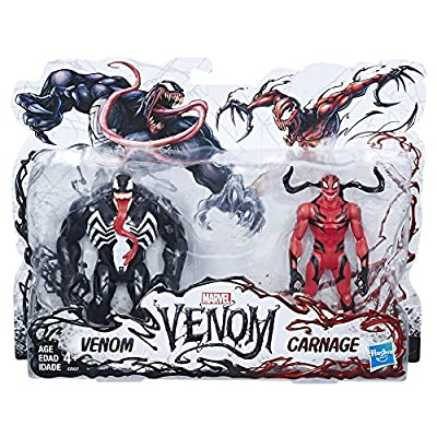 Marvel Venom, Venom and Carnage Action Figures, Collectible Action Figure Toys- 6 inch, 2 Pack: Toys & Games