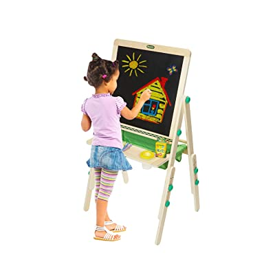Crayola Deluxe Kids Wooden Art Easel & Supplies, for Kids, Ages 3, 4, 5, 6: Toys & Games