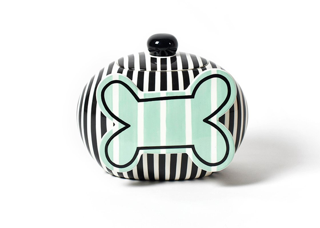 Coton色Happy Everything BigブラックストライプCookie Jar B072HQBVLH