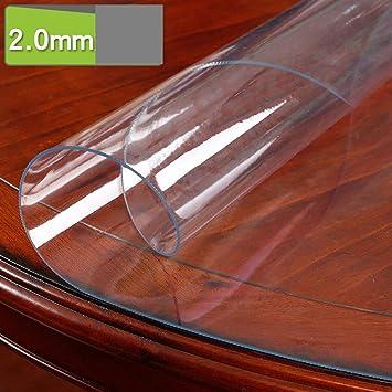 XHC Mantel de algodón PVC Claro Protector de Mesa Mantel, plástico ...
