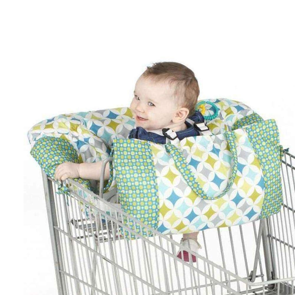 IMSHI Multifunctional Shopping Push Cart Cover High Chair Cover for Baby /& Infant Machine Washable for Boy Or Girl Includes Attached Carrying Bag