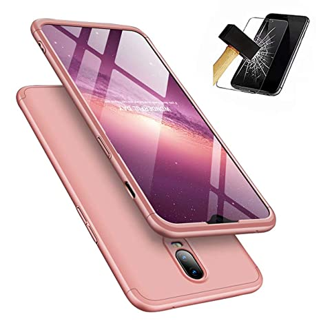 Funda OnePlus 6T 360°Caja Caso + Vidrio Templado Laixin 3 in 1 Carcasa Todo Incluido Anti-Scratch Protectora de teléfono Case Cover para OnePlus 6T ...