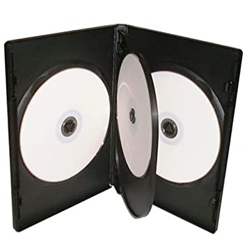 Four Square Media - Lote de 10 cajas para 4 CD, DVD o Blu-