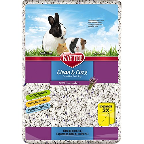 Kaytee Clean & Cozy Lavender Bedding, 1000 Cubic - Animal Small Bedding