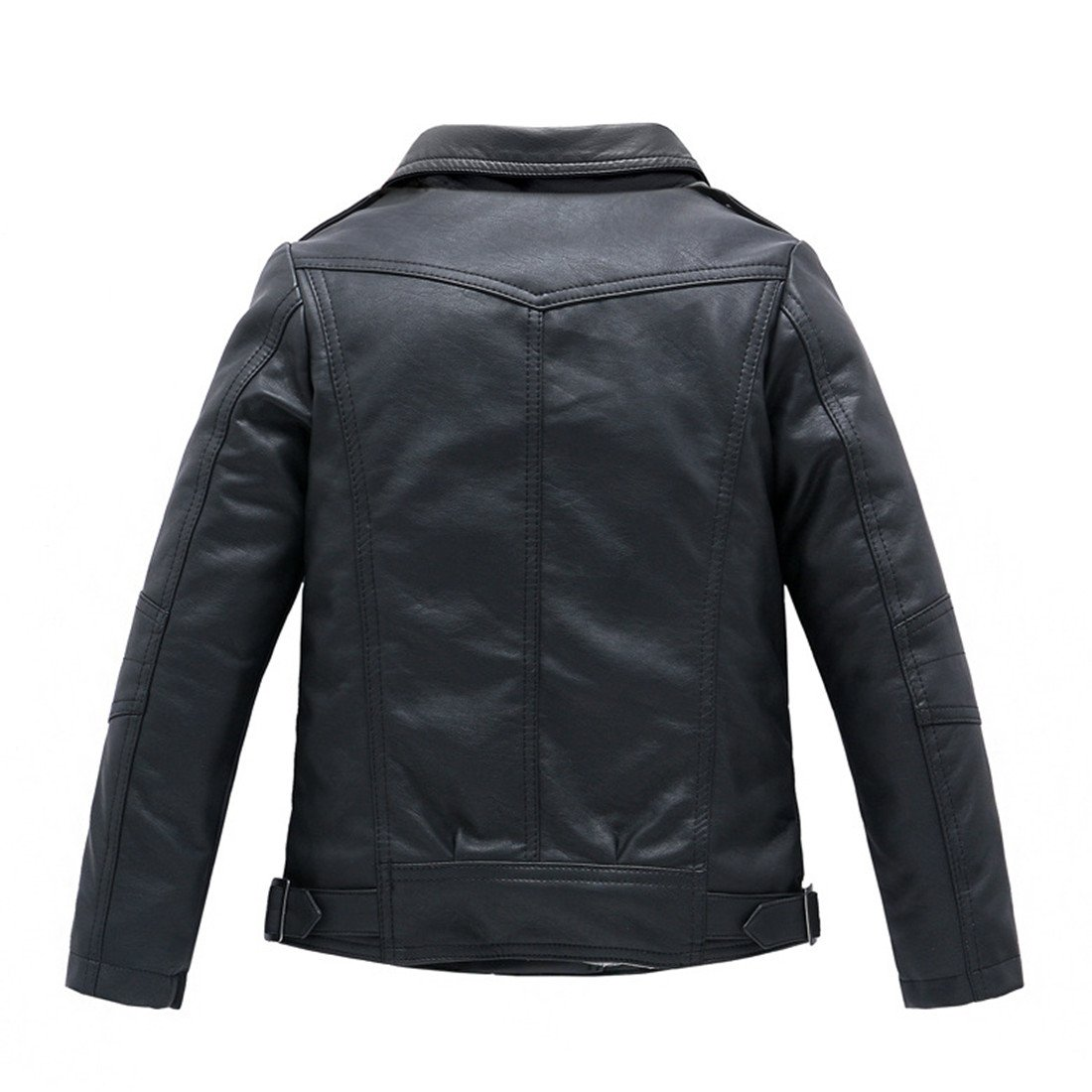LJYH Childrens Collar Motorcycle Faux Leather Coat Boys Faux Leather Jacket