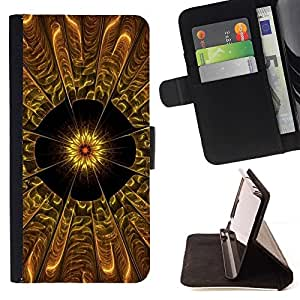 ForSamsung Galaxy S3 MINI i8190 (NOT S3) Case , Flor abstracta- la tarjeta de Crédito Slots PU Funda de cuero Monedero caso cubierta de piel