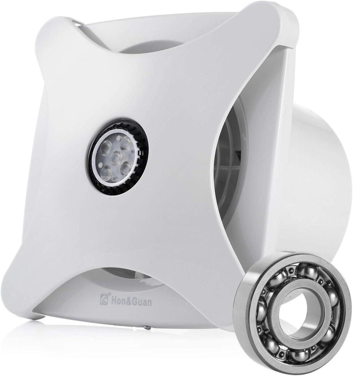 Hon&Guan 150mm Ventilador Extractor de Aire Silencioso 197m³/h para Oficina, Baño, Dormitorio
