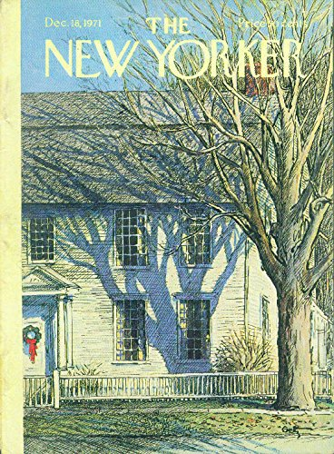 New Yorker cover Getz colonial house wreath 12/18 1971 -
