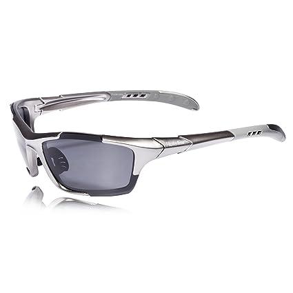 b4ed11353b99 Hulislem S1 Sport Polarized Sunglasses FDA Approved (Gun-Smoke) Sunglasses  for Men Women
