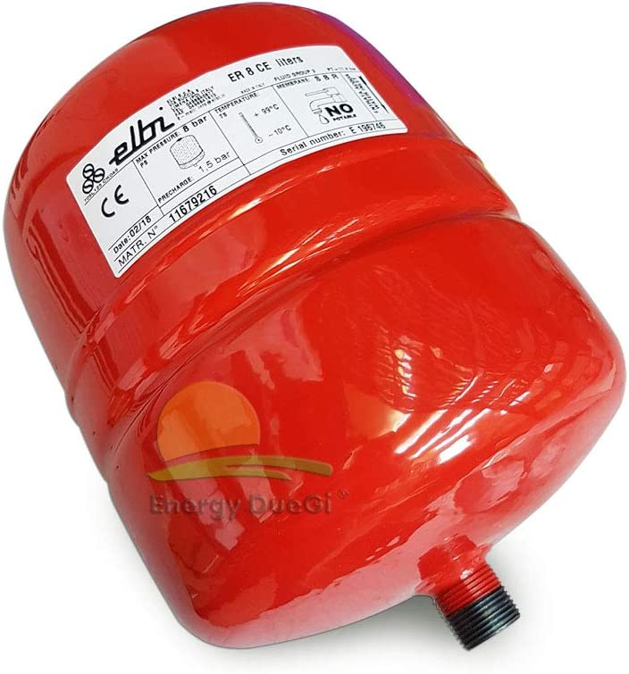Elbi A102L16 - Maceta de expansión para calefacción er-8 ce, color azul, rojo y blanco