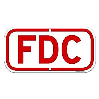Amazon.com: SIGO SIGNS - Señal de aluminio FDC rojo de 6 x ...