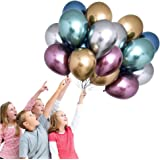 BOZOA Metallic Latex Balloons