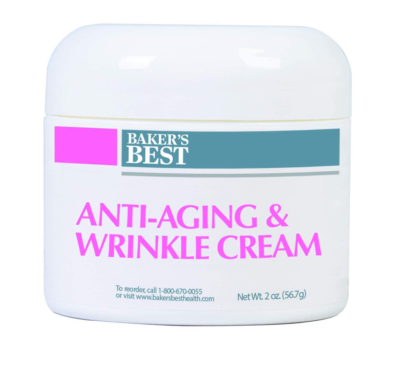 Baker's Best Anti-Aging & Wrinkle Cream – Anti-aging face cream, face wrinkle and anti-aging cream for women, – Vitamin A, Vitamin C, Vitamin E, Aloe Vera, Almond Oil, Peptides – 2 oz. luxury cream