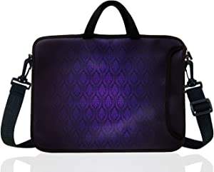 "15-Inch to 15.6-Inch Neoprene Laptop Shoulder Messenger Bag Case Sleeve For 14 14.1 15 15.6"" Inch Acer/Asus/Dell/Lenovo/Thinkpad/HP/Macbook Pro/Air (Classic Purple)"