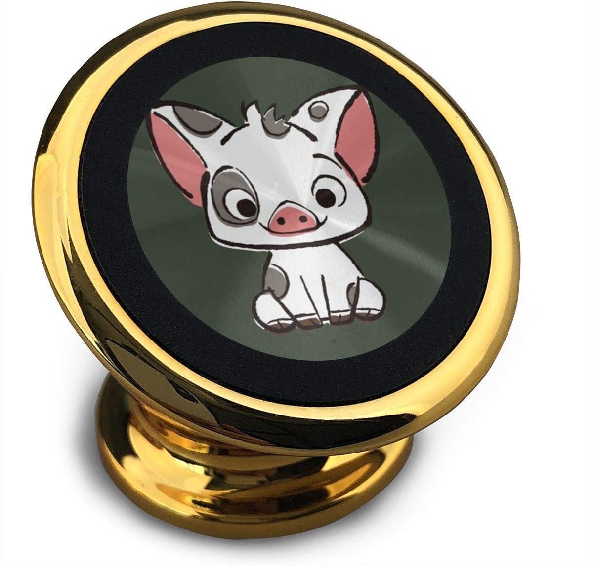 Qinf Richard Moana Pua The Pot Bellied Pig - Soporte magnético Universal para iPhone XS MAX R X 8 Plus 7 Plus 6S Samsung Galaxy S9 S8 Edge S7 S6 LG Sony