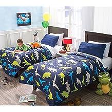 """New """"Dinosaurs"""" Lightweight Reversible Comforters Full/Queen"""