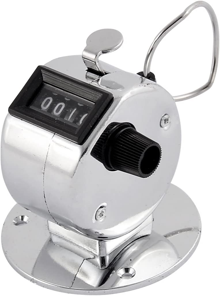 uxcell 4 Digit Number Clicker Golf Manual Hand Tally Mechanical Palm Click Counter Arithmometer