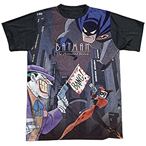Trevco Men's Batman Animated Series Bounce Sublimated Adult T-Shirt at Gotham City Store