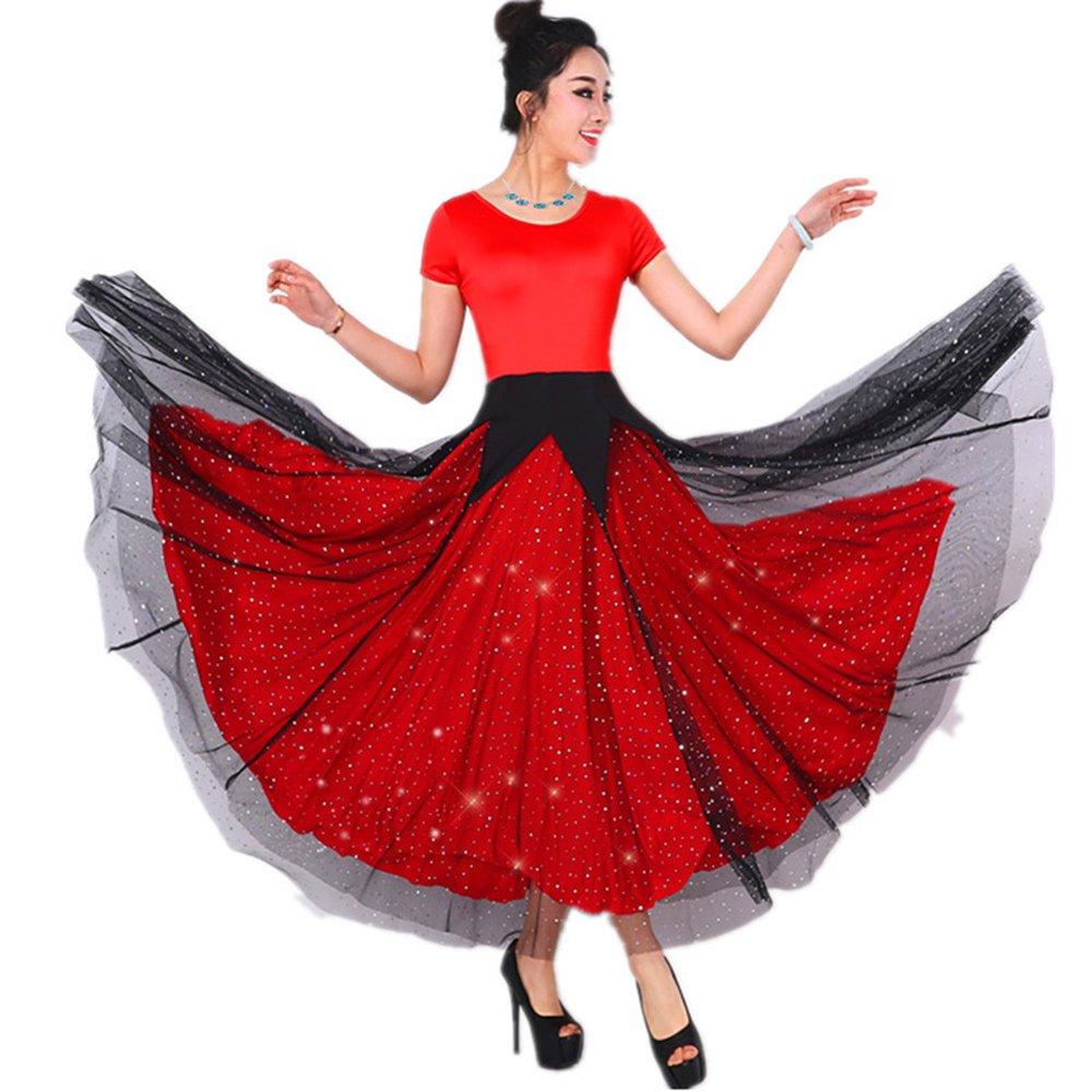 Xueyanwei Modern Lady Es Es Es Big Pendel Kleid Ballroom Dance Kleid Kostüm Modern Dance Dress Tanzwettbewerb Performance Kostüm B07J5DF79P Bekleidung Gewinnen Sie das Lob der Kunden 0be896