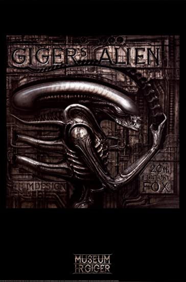 Giger s Alien Poster by H  R  Giger 24 x 36in. Amazon com  Giger s Alien Poster by H  R  Giger 24 x 36in  Hr