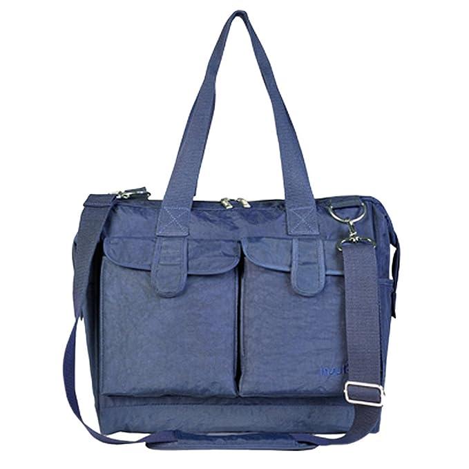6pcs Un Set Bolsa de pañales del bebé Bolso de Pañales de Moda de Color Azul